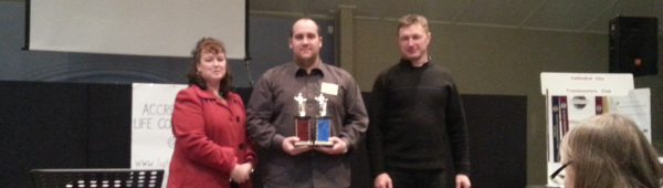 Jonathan grabs a clean sweep of both the Table Topics and Humorous Speech contests.