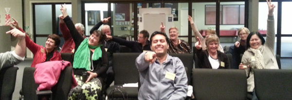 Toastmasters losing the plot at another wacky Tuesday meeting.