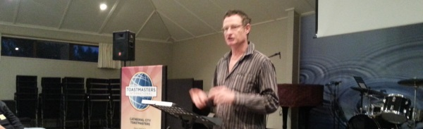 Gary presents an honest & rather interesting swing on Toastmasters