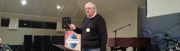 Push play!  Life is about having fun says Toastmaster Dave